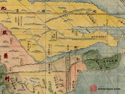 组图:400年前中国的世界地图